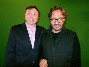Oleg-Frish-tv-host-and-Al-DiMeola