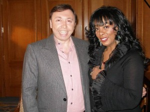 Oleg-Frish-tv-host-and-Donna Summer